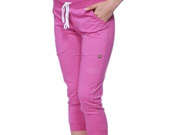 Womens 3/4 Cuffed Capri Yoga Pant