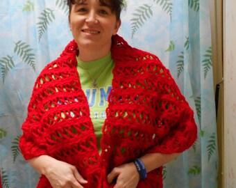 Prayer Shawl for Heart Disease, Heart Attack or Stroke, Handmade