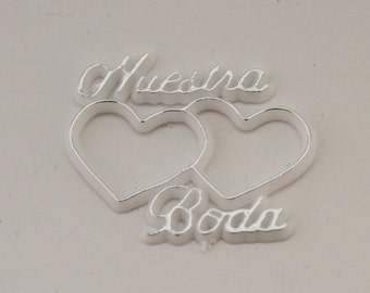 12-144 Nuestra Boda Mini sign for party favors and decorations