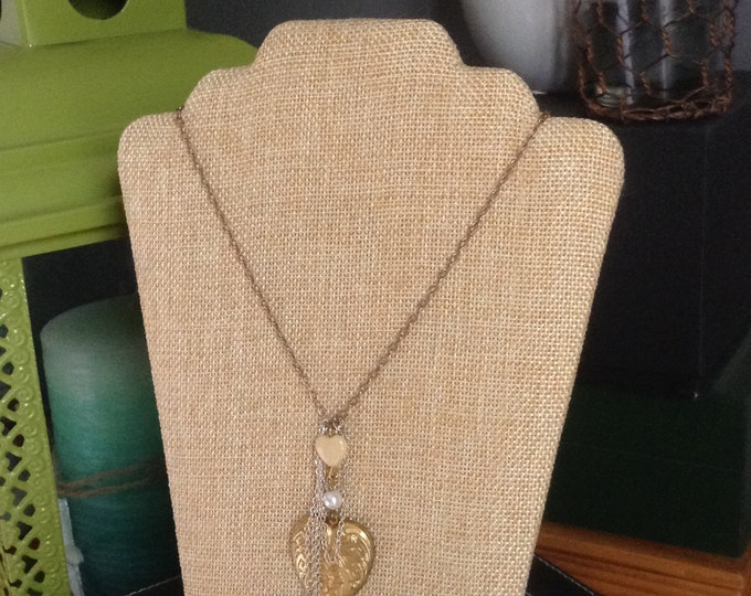 Goldtone Heart Necklace