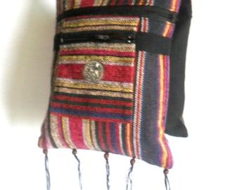 Hippie Cross body Bag Bohemian Bag Shoulder  Multicolor Bag Messenger Bag Boho Hobo Purse bag Thai Handmade Art Bag / Gift