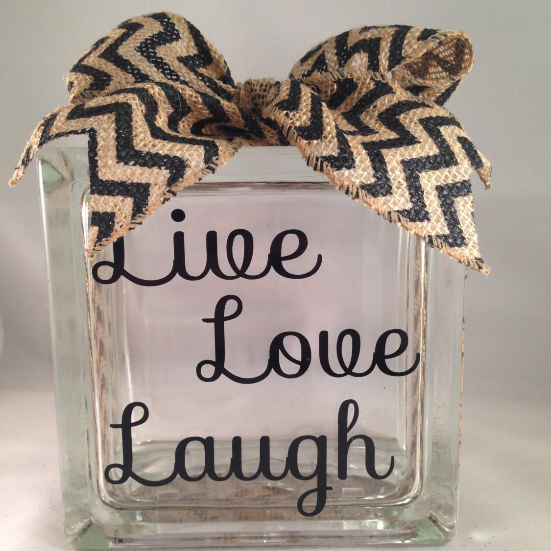 Live Love Laugh Decorative Home Decor Glass By Dawnmariedesign