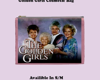 Golden Girls Cosmetic Bag, Cosmetic Bag, Make Up Bag, make up bag, tv shows, 80s tv shows, 90s tv show