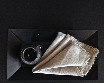 Rustic linen napkins(12), Linen dinner napkins, Flax napkins, Eco friendly napkins, Grey napkins, Organic napkins