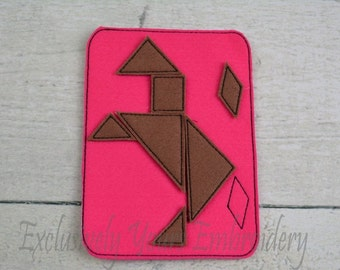 Horse Tangram Puzzle, Tangrams, Preschool, Toddler Toys, PreKindergarten, Back to school, Quiet Game, Travel Toy, Educational, Learning Toy