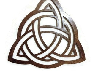 Triquetra WALL ART - Raw Wood Home Decor - Laser cut wood - triquetra - wall decor - woodworking