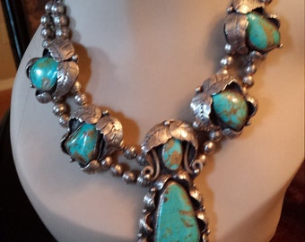 squash blossom sterling silver turquoise