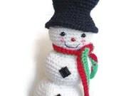 Xmas Ornaments Crochet Snowman Crochet Christmas Amigurumi Snowman Christmas Ornament Ready to Ship