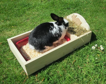 Rabbit Hay Feeder/Feeding Trough with Tray
