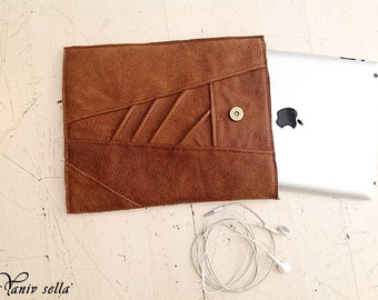 ipad case,ipad cover, ipad case leather,tablet case, ipad sleeve leather, electronics cases,brown leather, handmade, gift idea,mens gift