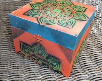 Gypsey Trinket Painted Cigar Box