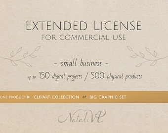 Extended License \  Clipart collection or Big graphic set
