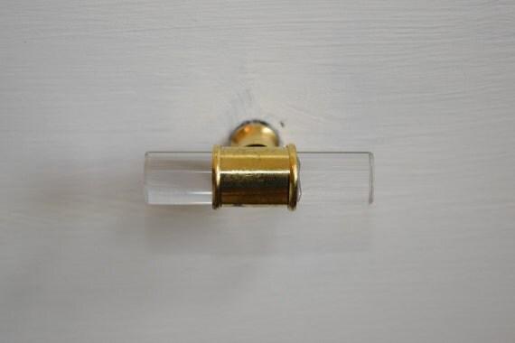 Vintage glass dresser knobs excellent ruby garnet red for Crystal bureau knobs
