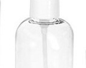 Bottles with pumps and caps PET -  1 oz. set of 3
