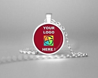 CUSTOM LOGO NECKLACE Custom Jewelry Logo Jewelry Custom Logo Necklace Event Logo Jewelry Group Event Logo Jewelry Band Logo Team Logo