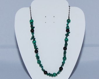 Malachite & Black Onyx Gemstone Necklace