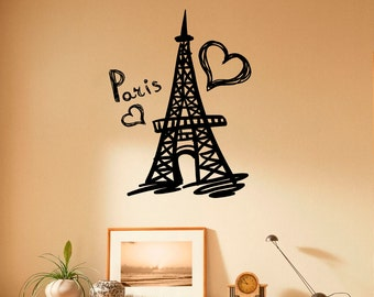 Eiffel Tower Wall Decor eiffel tower wall decal vinyl stickers paris symbol home
