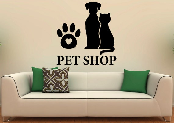 Pet Shop Wall Decal Vinyl Stickers Pet Grooming Interior Pet