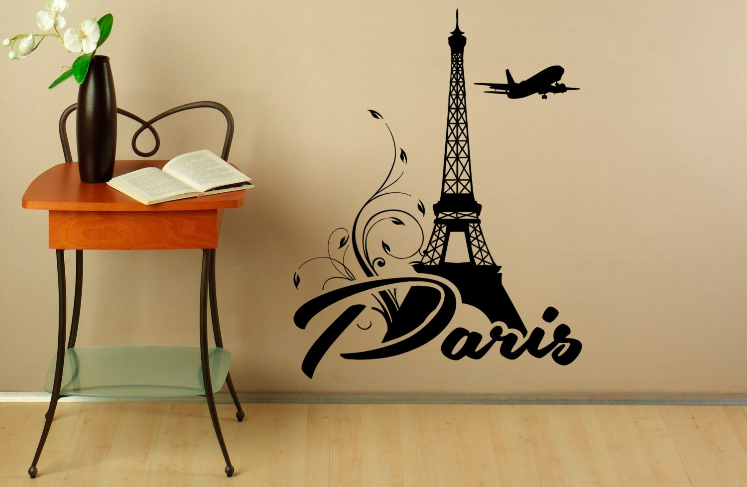Eiffel tower wall decal vinyl stickers paris symbol home zoom amipublicfo Images