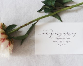 Modern Calligraphy and Print Envelope Addressing