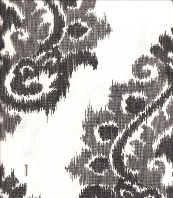 Home Decor Fabric Cotton By the Yard Damask Ikat Contemporary