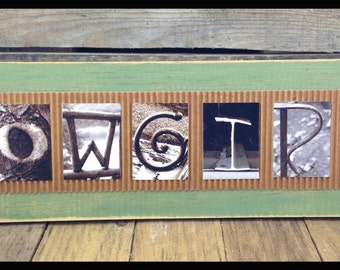 """Distressed Rustic """"COWGIRL"""" wall frame"""