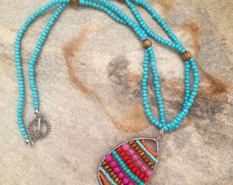 Bright beaded necklace