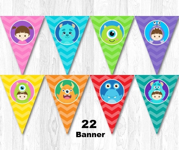 Monster Banner Monster Bunting Monster Inc Banner Monster