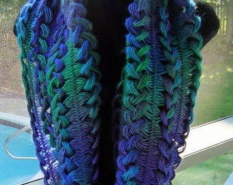 Braided Hairpin Lace Loop Infinity Scarf from Chetnanigans Boutique~~~