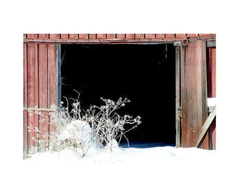 Old Barn Door Photo,Photo of Old Red Barn Door Picture,Picture of Old Barn Winter Snow,Barn Photograph,Rustic Farm Door,Winter Farm Photo