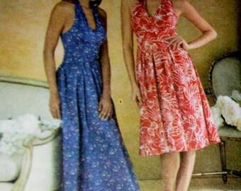 UNCUT Simplicity 3823 Summer Halter Dress Pattern, sizes 14-22