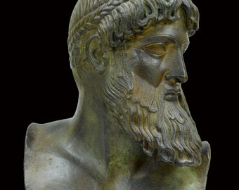 Zeus God King of all Gods museum reproduction bust