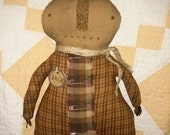 Primitive Fall doll Pumpkin Man Halloween Fall Folk Art FAAP Hafair