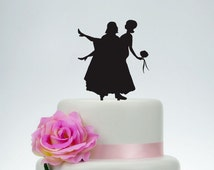 Star War Wedding Cake Topper,Custom Cake Topper,Personalized Cake Topper,Engagement Cake Topper,Cake Decoration,Bride and Groom Topper P098