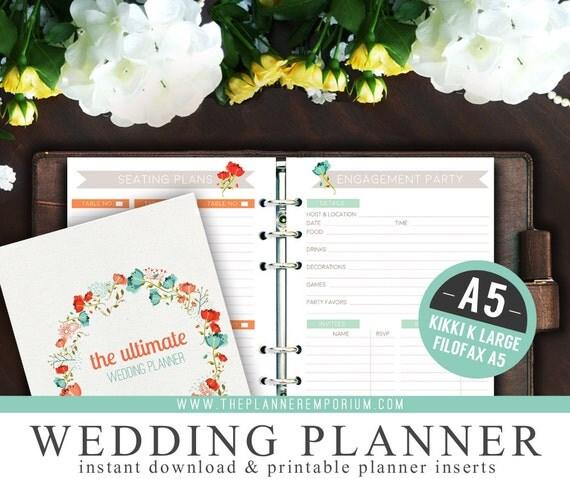 A5 Ultimate Wedding Planner Organizer Kit By ThePlannerEmporium