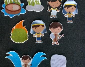 Moses-Bible Story Felt Board Set// Flannel Board Story Set // Preschool // Teacher Story // Sunday School // Kids //
