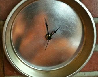 Shiny Cake Pan Wall Clock