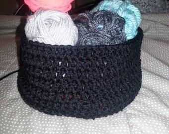 Croched Basket. Flexable,soft yarn.
