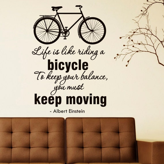 Albert Einstein Quotes Life Is Like Riding A Bicycle: Albert Einstein Quote Wall Decal Life Is Like By FabWallDecals