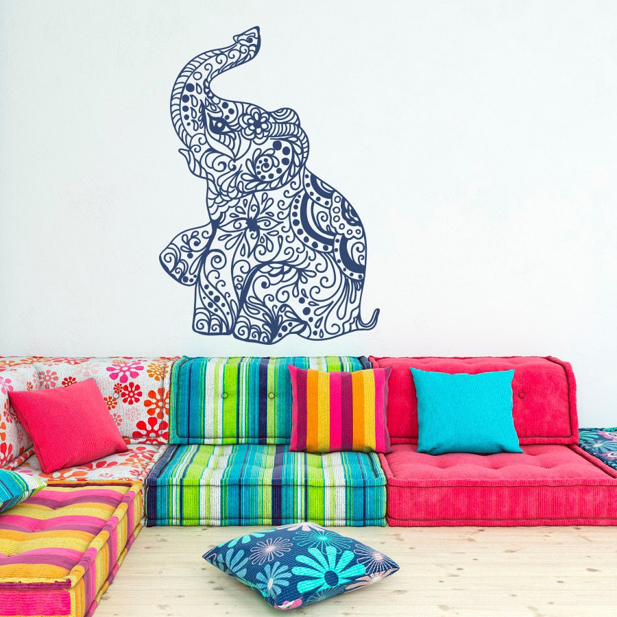 elephant wall decal stickers elephant yoga wall by