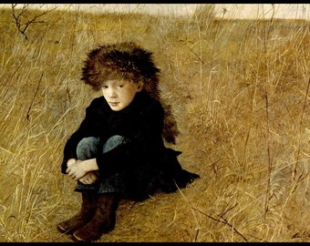 "Andrew Wyeth Print, ""Faraway"", Original Vintage Bookplate Print, Circa 1952, Collectible Americana Art, Ready To Frame"