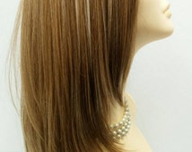 Long 22 inch Straight Lace Front Heat Resistant Wig with Mixed Copper Blonde Color and Pale Blonde Highlights. [46-250A-Lina-1010]