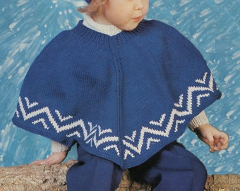 Child's Poncho Knitting Pattern