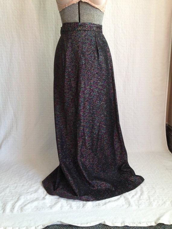 vintage 70 s disco maxi skirt retro 70s by gypsysclosetvintage