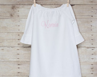 Baby Girl Dress - Baby Girl Gown - Personalized Baby Dress - Monogrammed Baby Dress - Monogrammed Ruffle Dress - Girly Girls