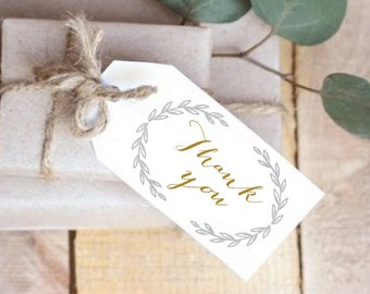 INSTANT Download, Printable Gift Tags, Wedding Favor Tags, Thank You, PDF, DIY