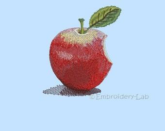 Apple 0001 - machine embroidery design