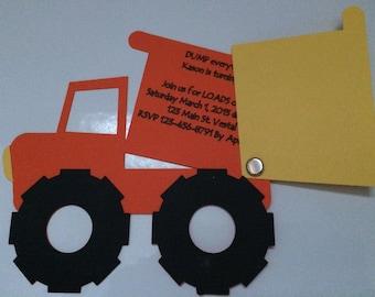 Dump Truck / Construction Truck 3D invitation