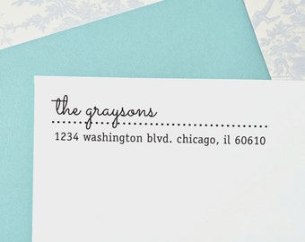 Stationery Stamp, Return Address Stamp, Custom Address Stamp, Self Inking Stamp, Wedding stamp, Housewarming Gift, A113