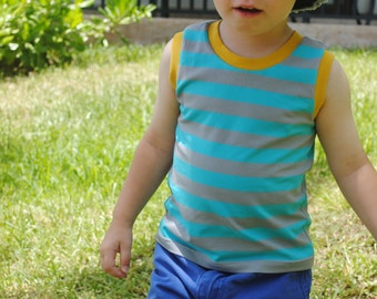 Organic Cotton Boy Tank-top,Baby tank-top,Toddler Tank-top,Organic Boy Clothing,Retro Styled Boy Top